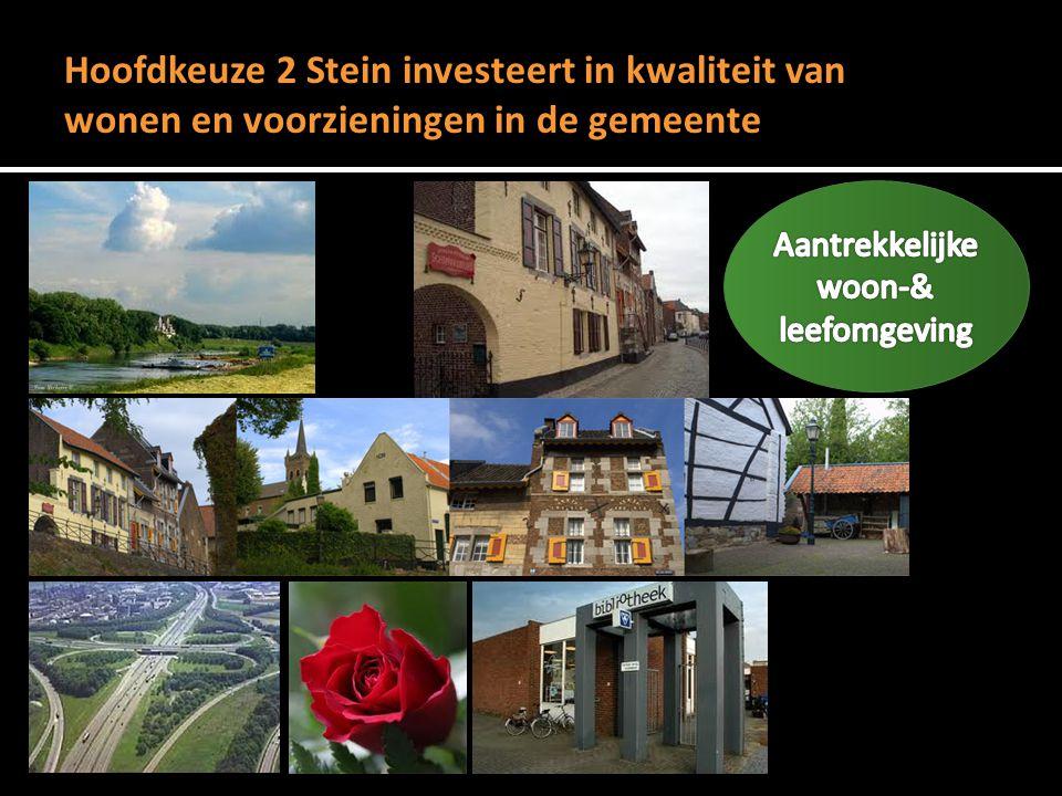 Hoofdkeuze 2 Stein investeert in kwaliteit van wonen en voorzieningen in de gemeente