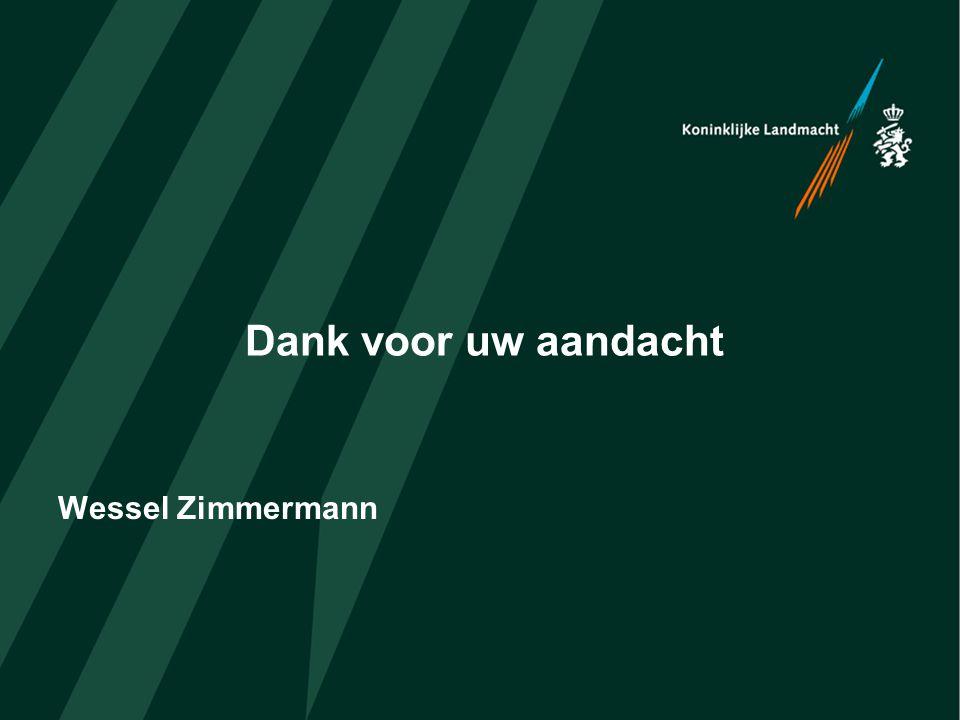 Dank voor uw aandacht Wessel Zimmermann