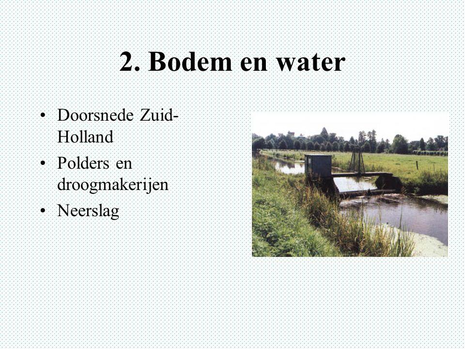 2. Bodem en water Doorsnede Zuid- Holland Polders en droogmakerijen Neerslag