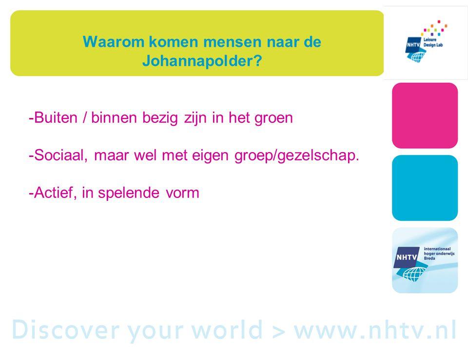Waarom komen mensen naar de Johannapolder.