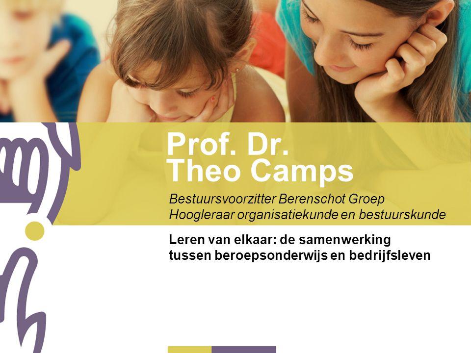 Prof. Dr. Theo Camps Bestuursvoorzitter Berenschot Groep Hoogleraar organisatiekunde en bestuurskunde Leren van elkaar: de samenwerking tussen beroeps