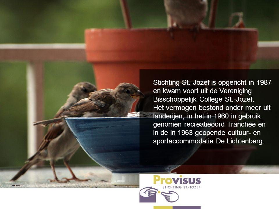 Stichting St.-Jozef is opgericht in 1987 en kwam voort uit de Vereniging Bisschoppelijk College St.-Jozef. Het vermogen bestond onder meer uit landeri