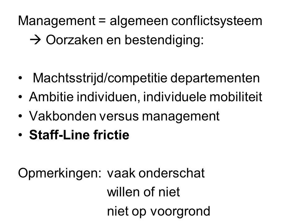 Conclusie Staff vs.