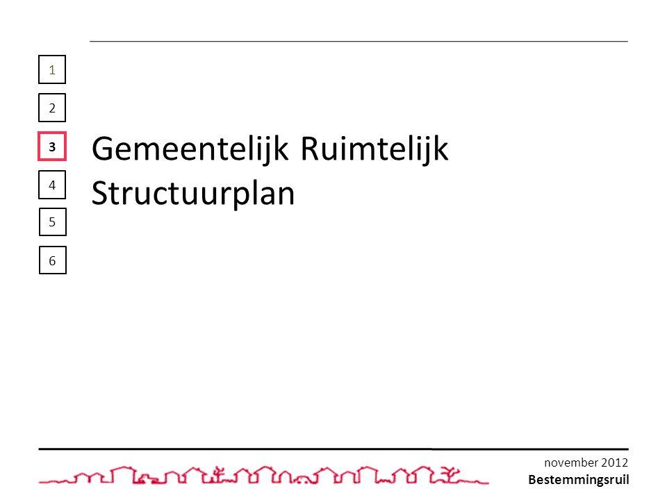 1 2 3 4 Gemeentelijk Ruimtelijk Structuurplan 5 6 Bestemmingsruil november 2012