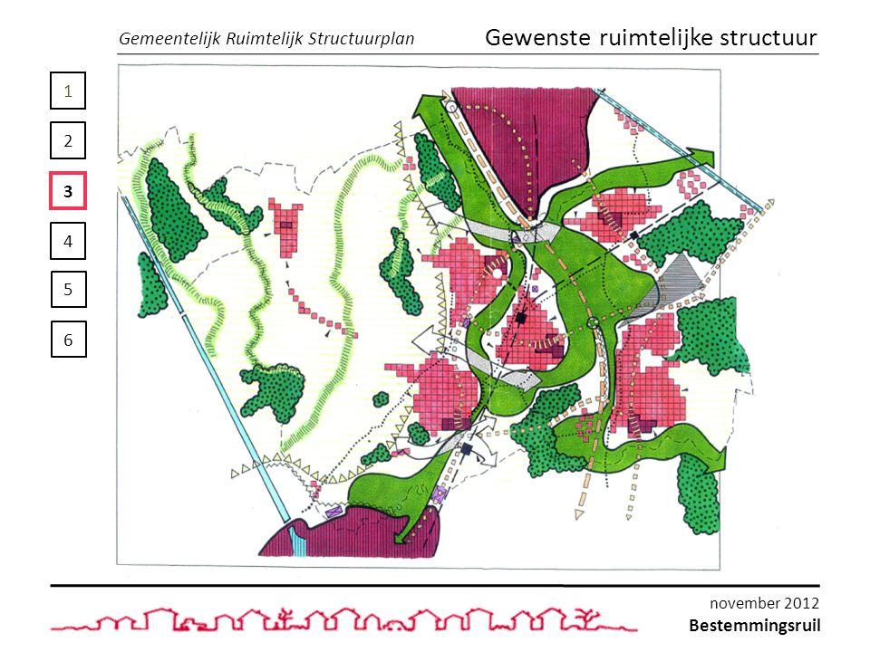 1 2 3 4 5 6 Gemeentelijk Ruimtelijk Structuurplan Gewenste ruimtelijke structuur Bestemmingsruil november 2012
