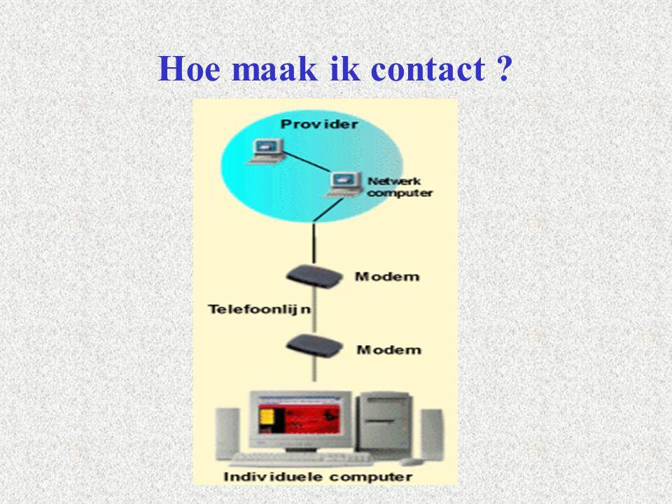 Verbinding maken met Internet