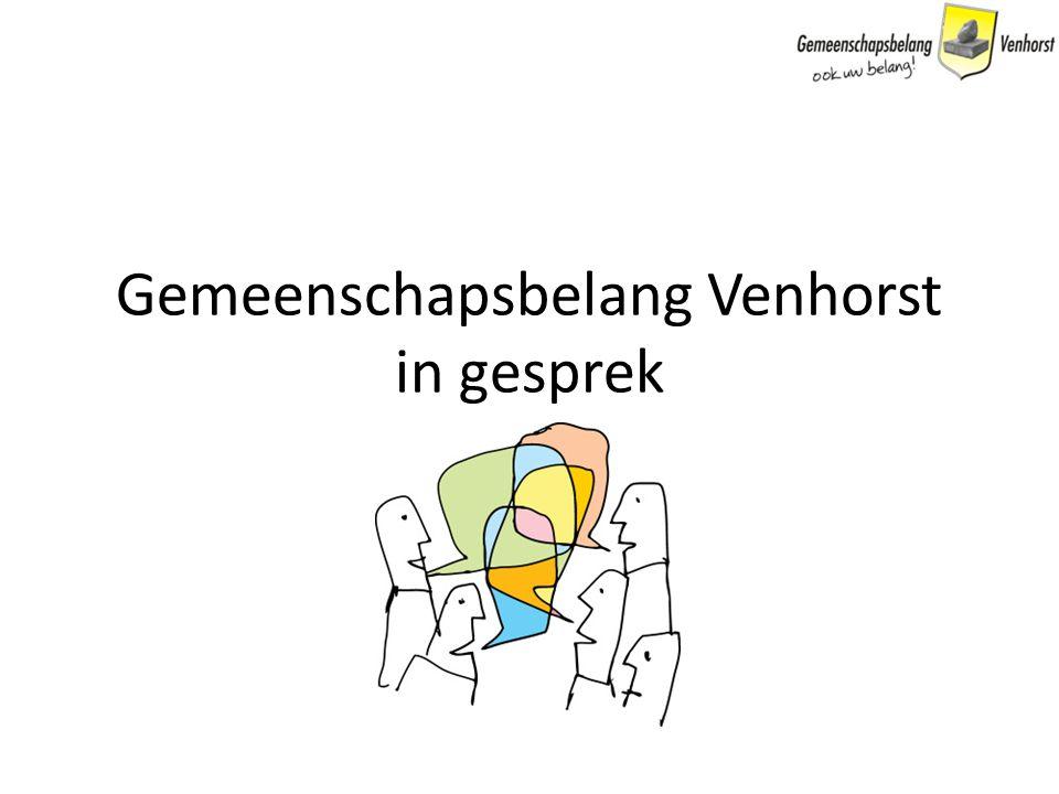 Gemeenschapsbelang Venhorst in gesprek