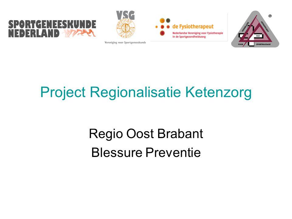Project Regionalisatie Ketenzorg Regio Oost Brabant Blessure Preventie