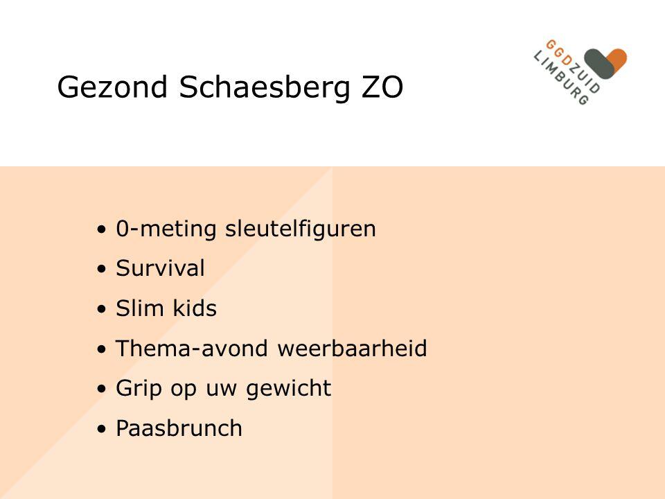 Gezond Schaesberg ZO 0-meting sleutelfiguren Survival Slim kids Thema-avond weerbaarheid Grip op uw gewicht Paasbrunch