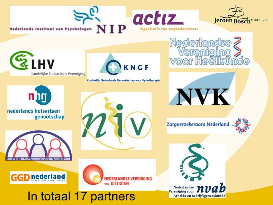 In totaal 17 partners