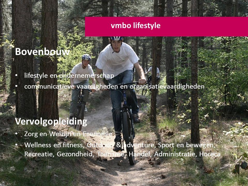 Bovenbouw lifestyle en ondernemerschap communicatieve vaardigheden en organisatievaardigheden Vervolgopleiding Zorg en Welzijn en Economie Wellness en