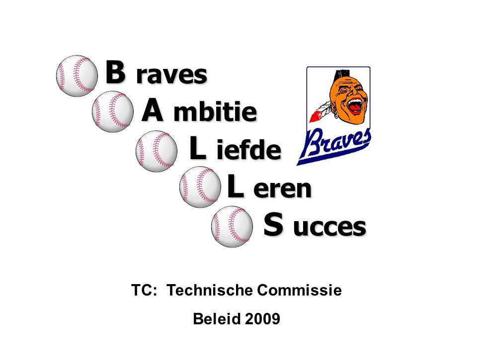 TC: Technische Commissie Beleid 2009 B raves A mbitie A mbitie L iefde L iefde L eren L eren S ucces S ucces