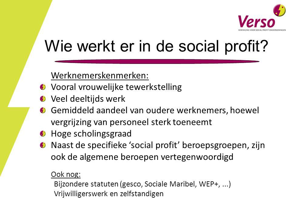 Wie werkt er in de social profit.