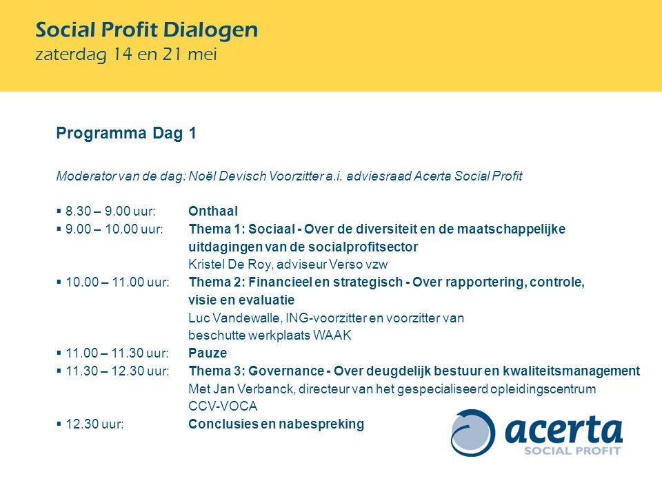 Programma Dag 1 Moderator van de dag: Noël Devisch Voorzitter a.i.