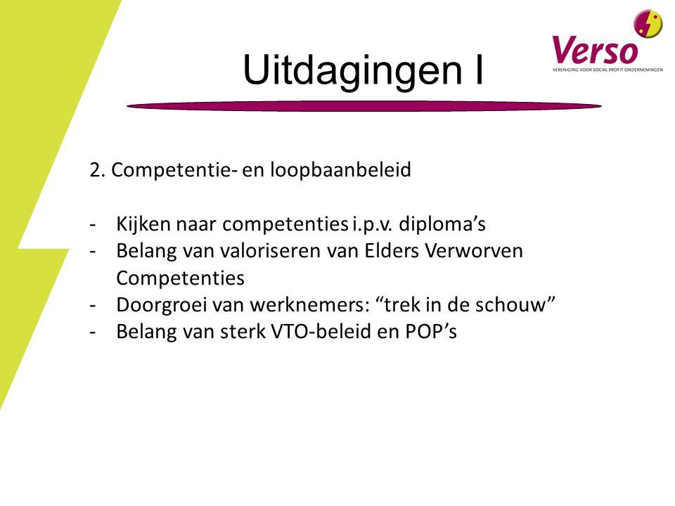 Uitdagingen I 2.Competentie- en loopbaanbeleid -Kijken naar competenties i.p.v.