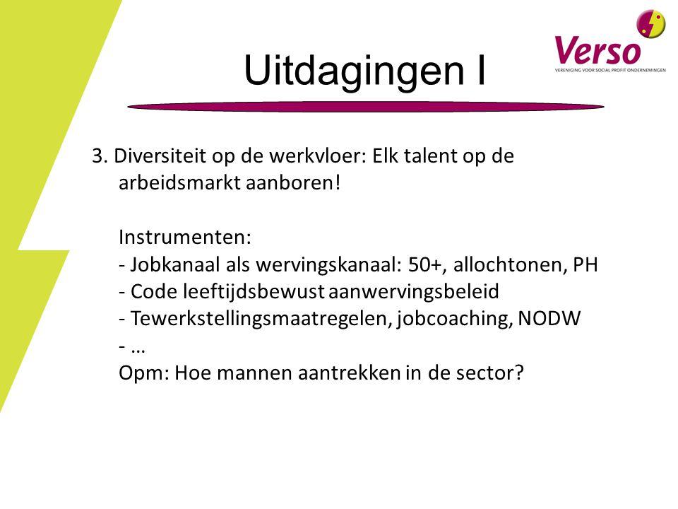 Uitdagingen I 3.Diversiteit op de werkvloer: Elk talent op de arbeidsmarkt aanboren.