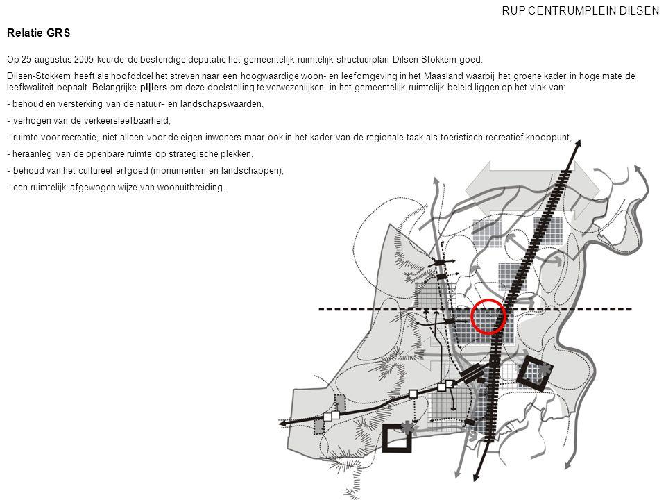Relatie GRS RUP CENTRUMPLEIN DILSEN Op 25 augustus 2005 keurde de bestendige deputatie het gemeentelijk ruimtelijk structuurplan Dilsen-Stokkem goed.
