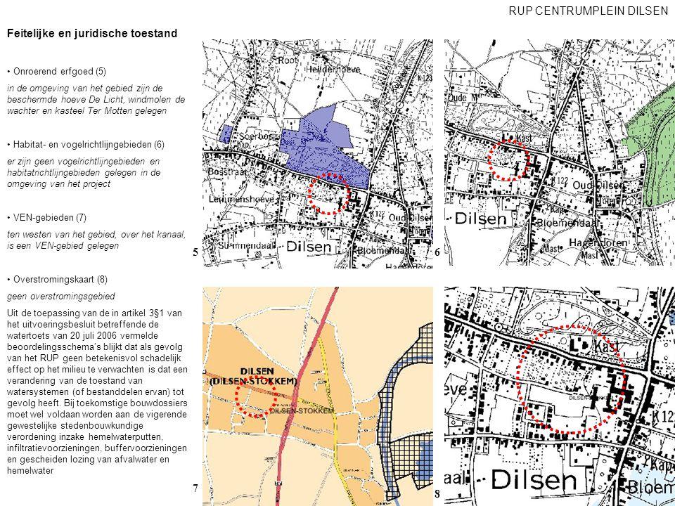 Feitelijke en juridische toestand Onroerend erfgoed (5) in de omgeving van het gebied zijn de beschermde hoeve De Licht, windmolen de wachter en kaste