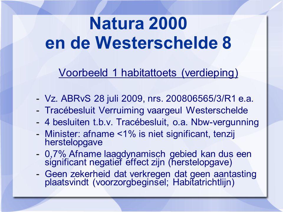 Natura 2000 en de Westerschelde 8 Voorbeeld 1 habitattoets (verdieping) -Vz.