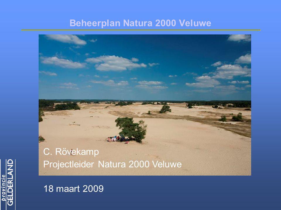 Beheerplan Natura 2000 Veluwe C. Rövekamp Projectleider Natura 2000 Veluwe 18 maart 2009