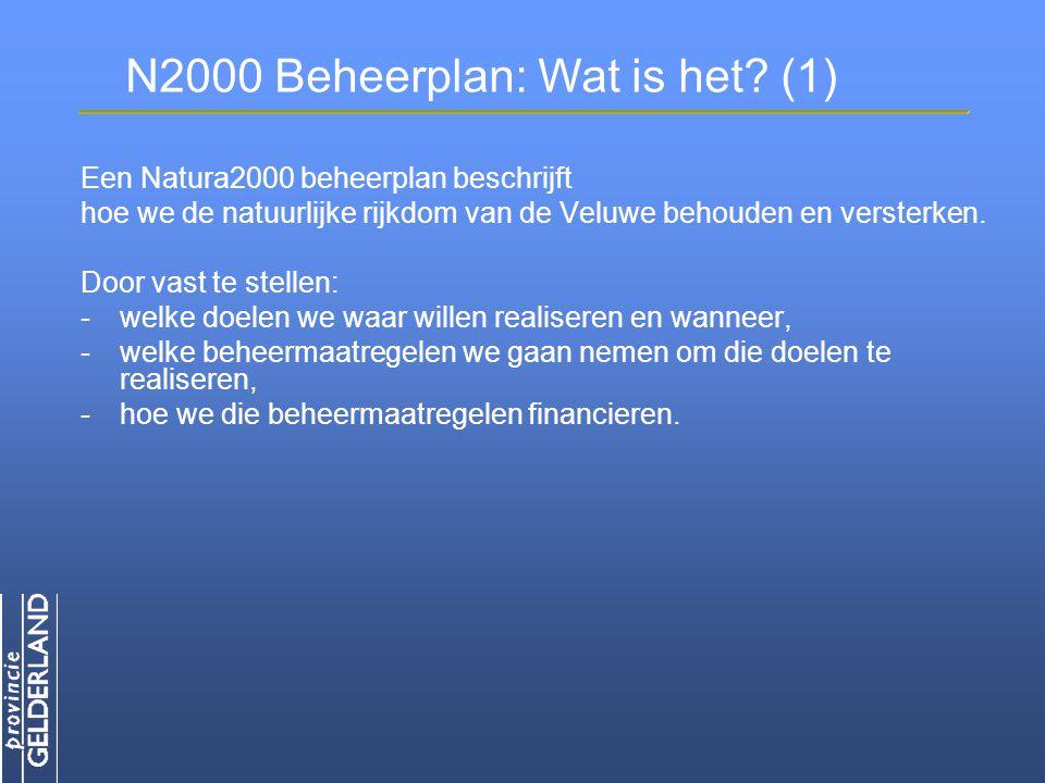 N2000 Beheerplan: Wat is het.