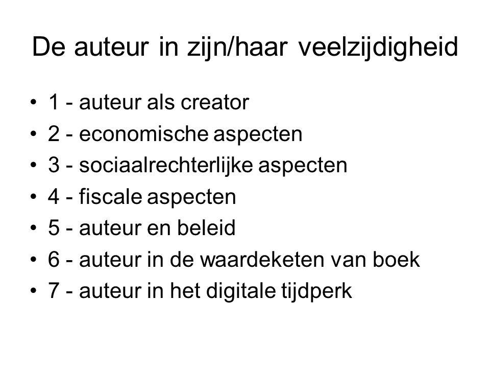 VII.Auteur in digitale tijdperk Zijn volgende functies professioneel combineerbaar.