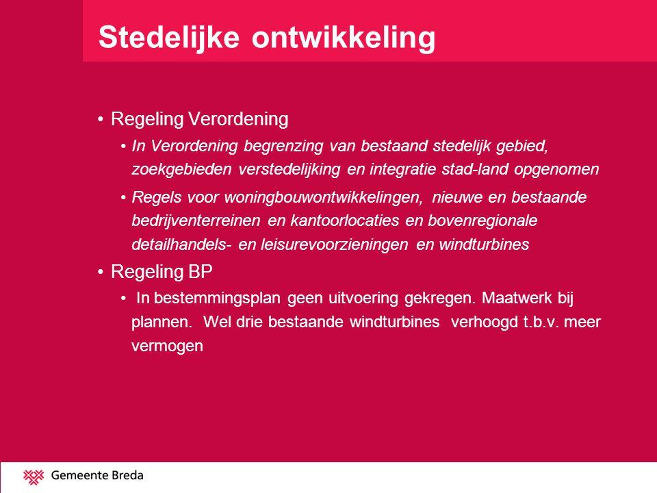 Stedelijke ontwikkeling Regeling Verordening In Verordening begrenzing van bestaand stedelijk gebied, zoekgebieden verstedelijking en integratie stad-