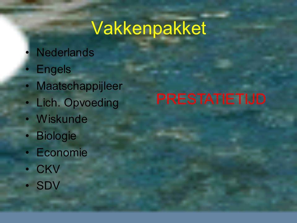 Vakkenpakket Nederlands Engels Maatschappijleer Lich.