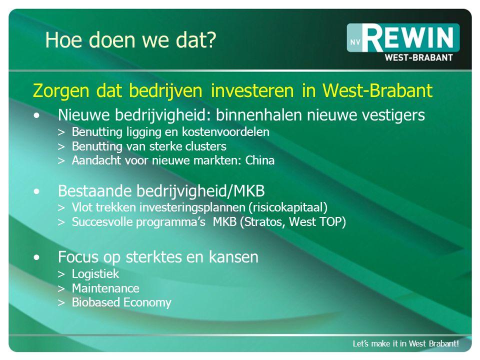 Let's make it in West Brabant.Eerste stappen Let's make it in West Brabant.