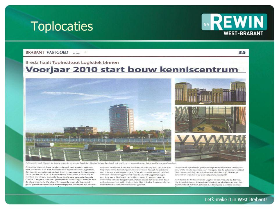 Let's make it in West Brabant.Strategische agenda 2011 - 2015 Let's make it in West Brabant.