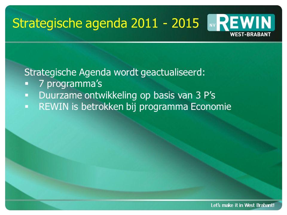 Let's make it in West Brabant.Strategische EZ agenda 2011-2015 Let's make it in West Brabant.