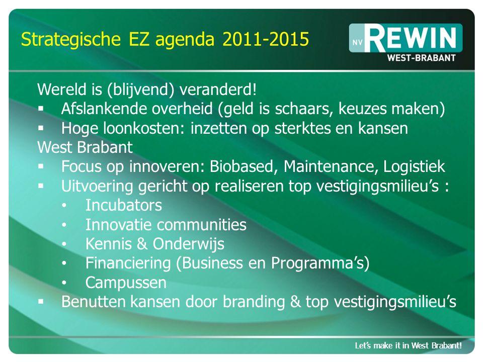 Let's make it in West Brabant.Topvestigingsmilieu in opbouw Let's make it in West Brabant.