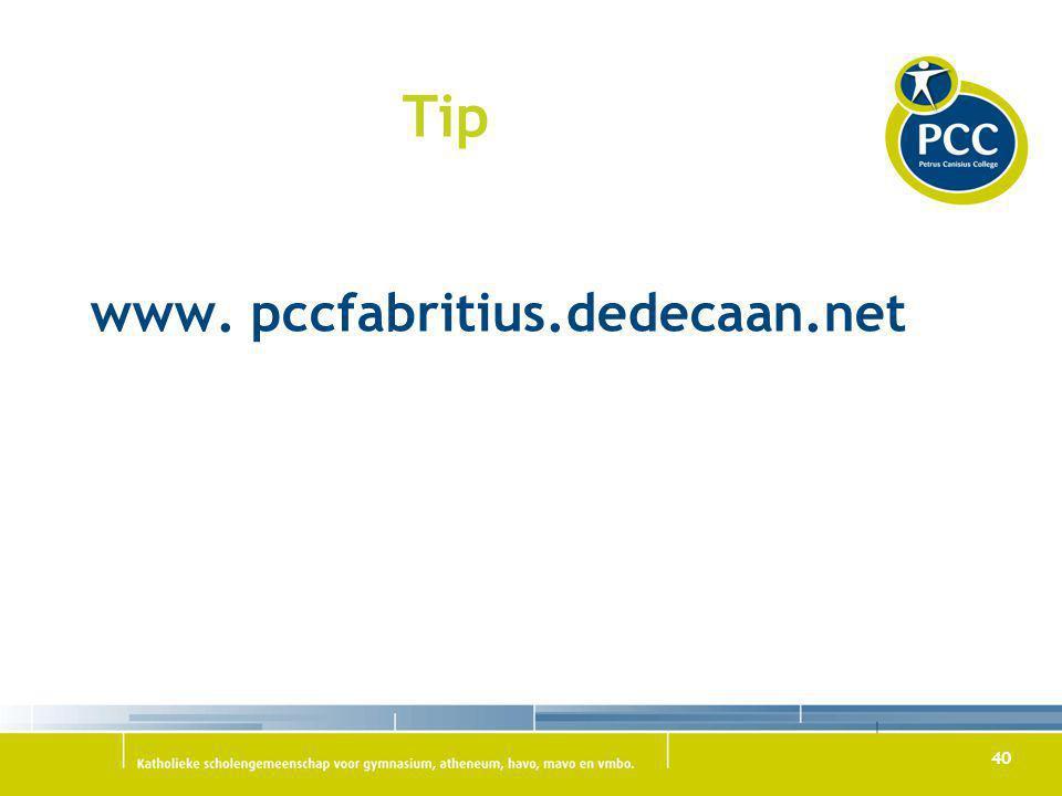 40 Tip www. pccfabritius.dedecaan.net