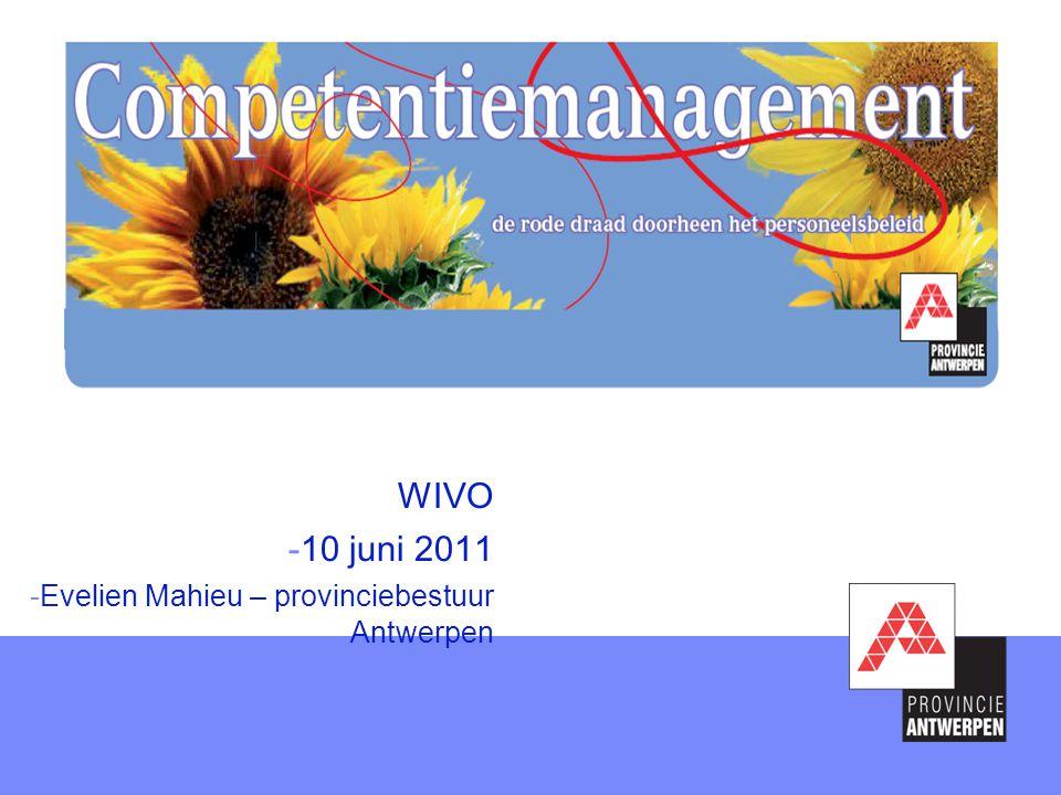WIVO -10 juni 2011 -Evelien Mahieu – provinciebestuur Antwerpen