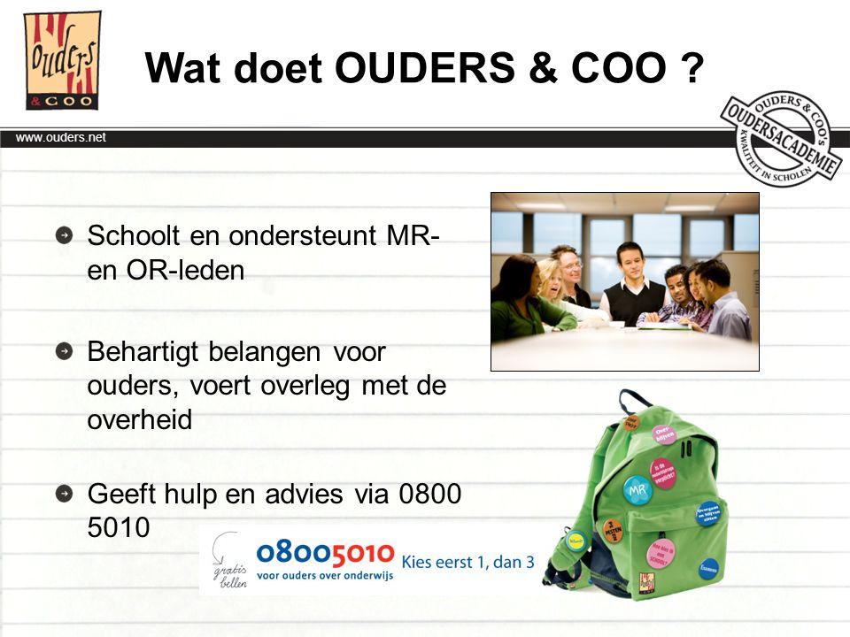www.ouders.net Wenselijke situatie