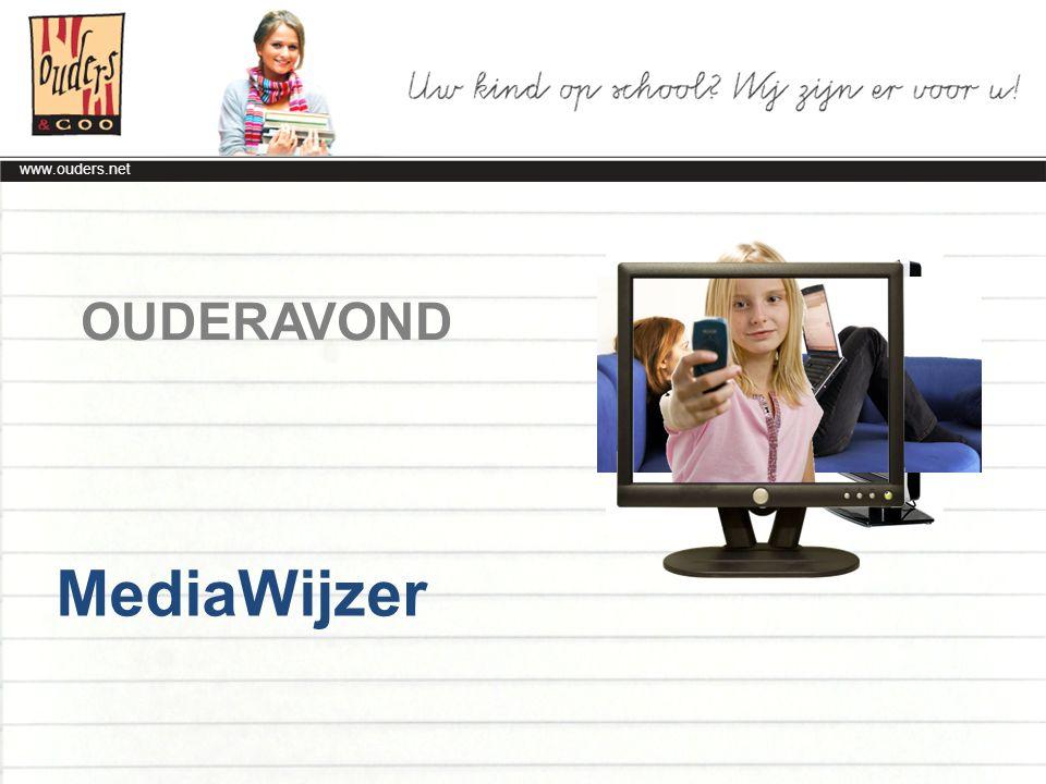www.ouders.net Samen Gebruik van nieuwe media gaat steeds meer over samen: Samen studeren Samen tv kijken, ook met ouders Samen computeren dmv chats / games