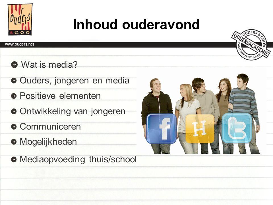 www.ouders.net De nulde-lijn Jongeren zullen de eersten zijn om iets op te merken dat eventueel misgaat, bijvoorbeeld bij cyberpesten.