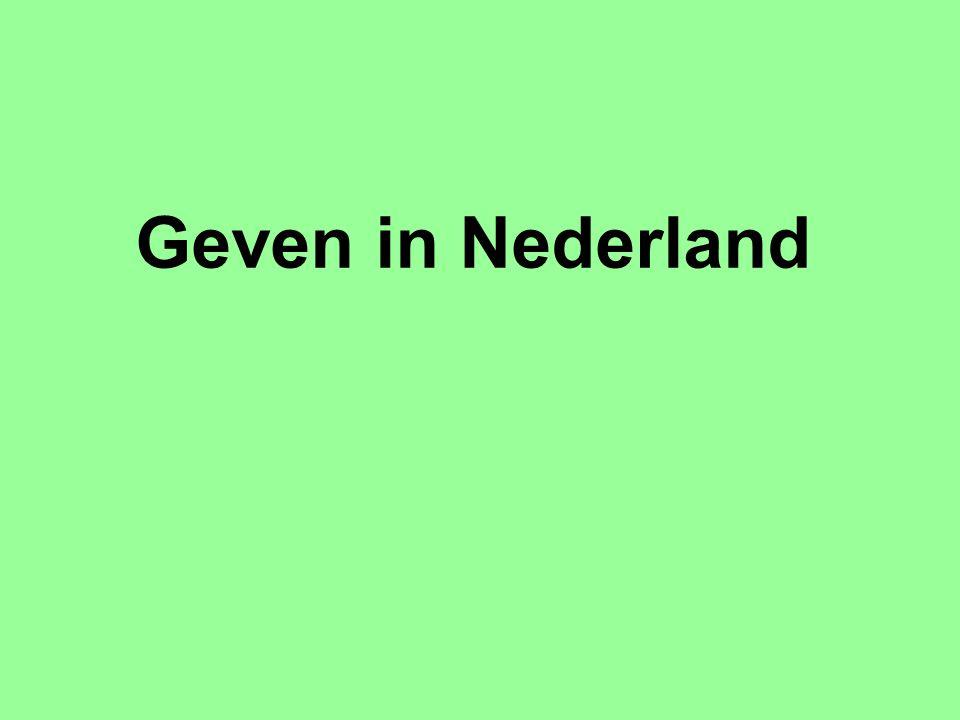 Geven in Nederland