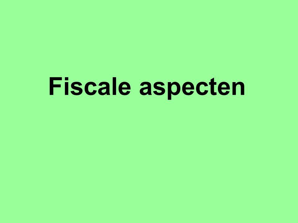 Fiscale aspecten