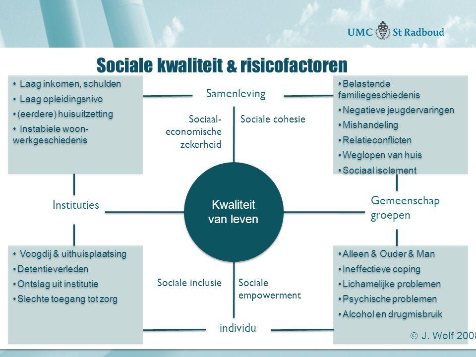 """Onderzoekscentrum maatschappelijke zorg """"gedreven door kennis, bewogen door mensen"""" Sociale kwaliteit & risicofactoren individu Gemeenschap groepen Sa"""