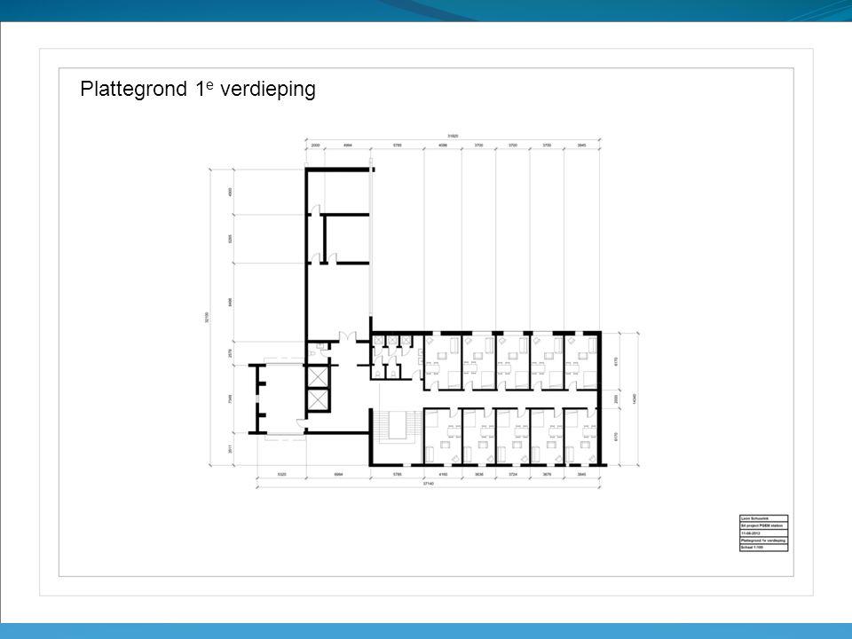 Plattegrond 1 e verdieping