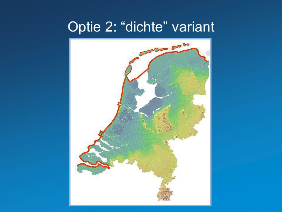 """Optie 2: """"dichte"""" variant"""