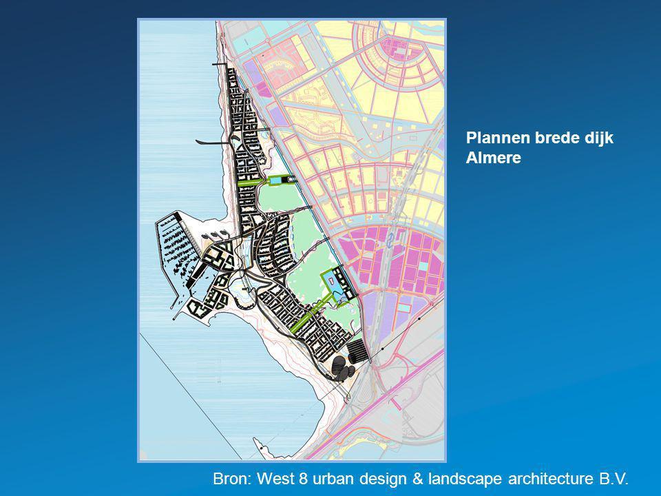 Bron: West 8 urban design & landscape architecture B.V. Plannen brede dijk Almere