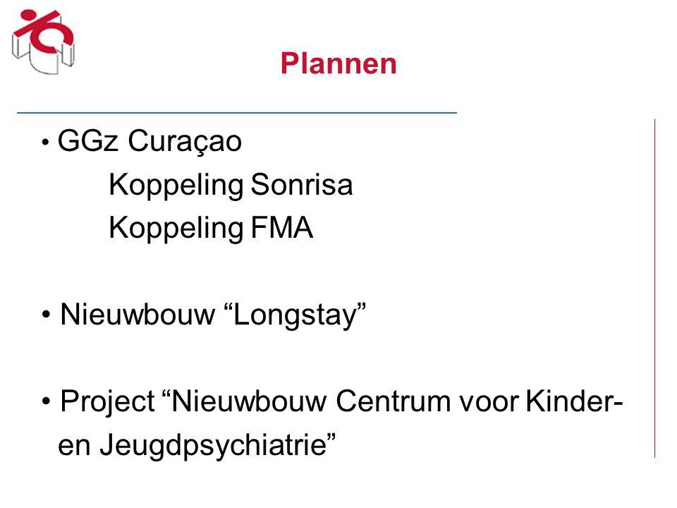 """Plannen GGz Curaçao Koppeling Sonrisa Koppeling FMA Nieuwbouw """"Longstay"""" Project """"Nieuwbouw Centrum voor Kinder- en Jeugdpsychiatrie"""""""