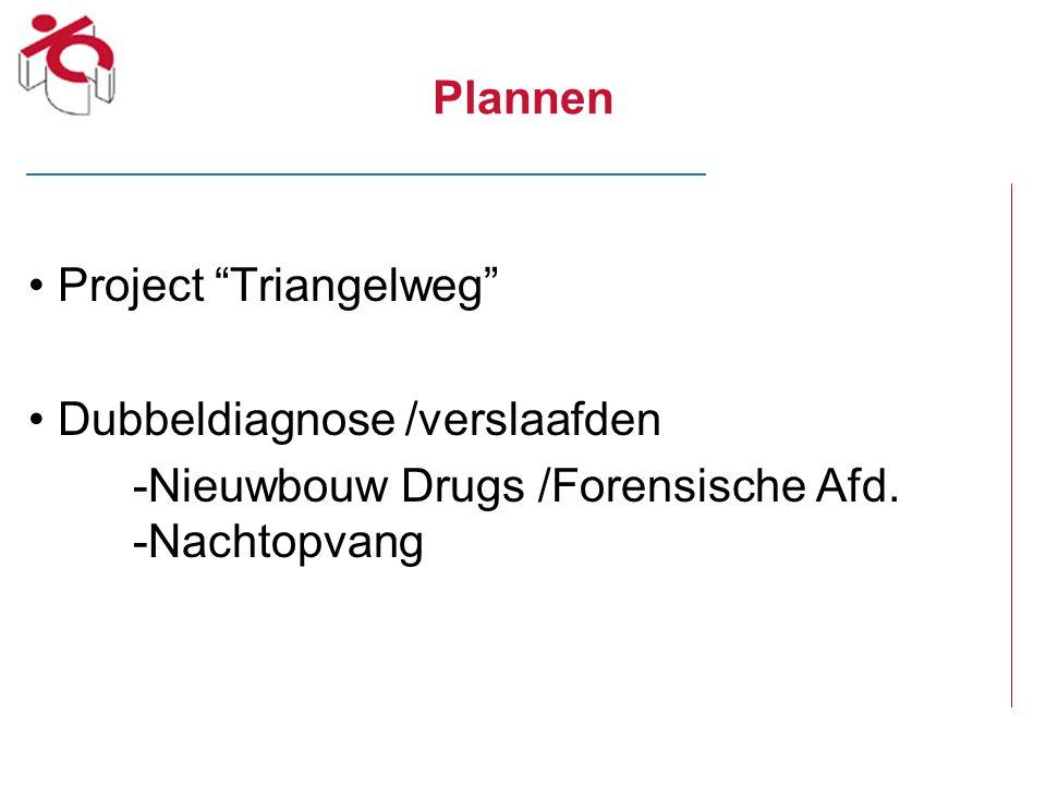 """Plannen Project """"Triangelweg"""" Dubbeldiagnose /verslaafden -Nieuwbouw Drugs /Forensische Afd. -Nachtopvang"""