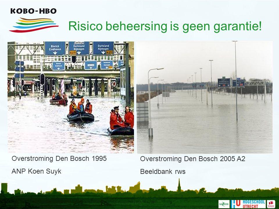 Risico beheersing is geen garantie! Overstroming Den Bosch 1995 ANP Koen Suyk Overstroming Den Bosch 2005 A2 Beeldbank rws