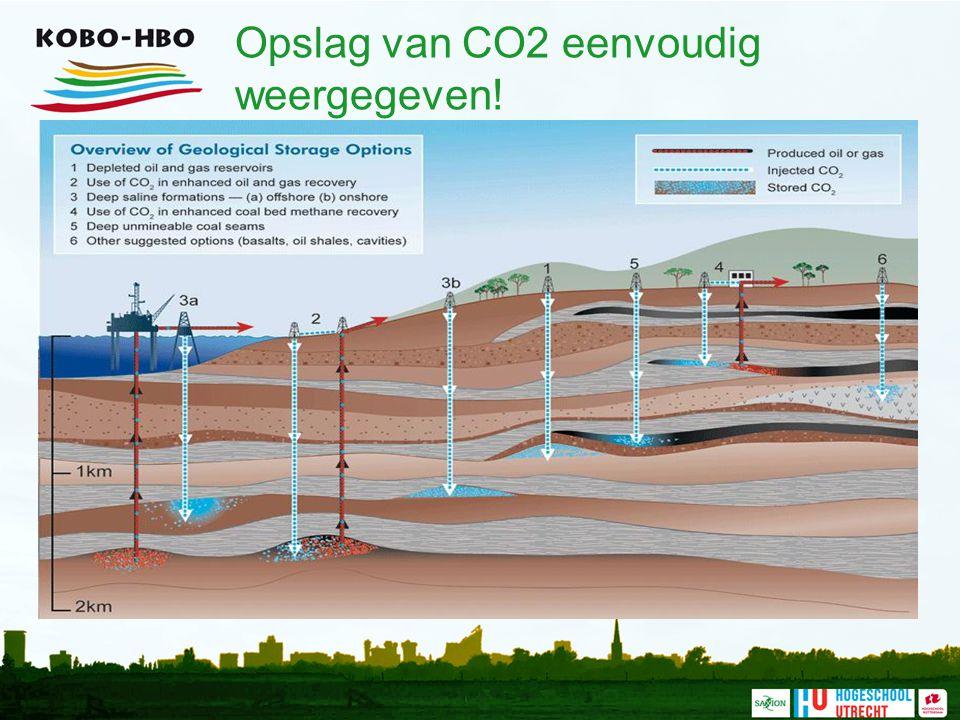 Opslag van CO2 eenvoudig weergegeven!