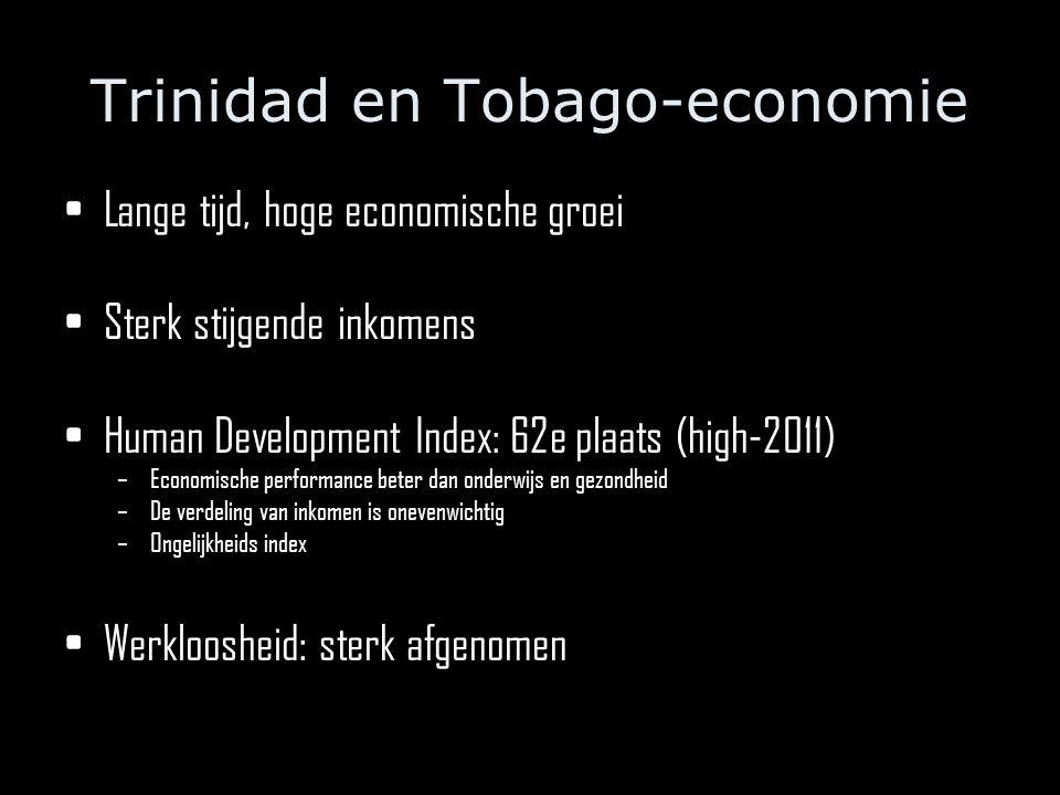 Lange tijd, hoge economische groei Sterk stijgende inkomens Human Development Index: 62e plaats (high-2011) –Economische performance beter dan onderwijs en gezondheid –De verdeling van inkomen is onevenwichtig –Ongelijkheids index Werkloosheid: sterk afgenomen