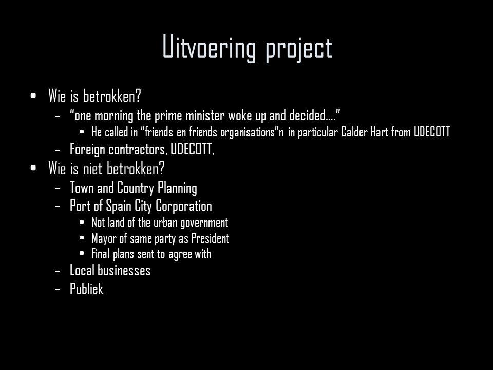Uitvoering project Wie is betrokken.