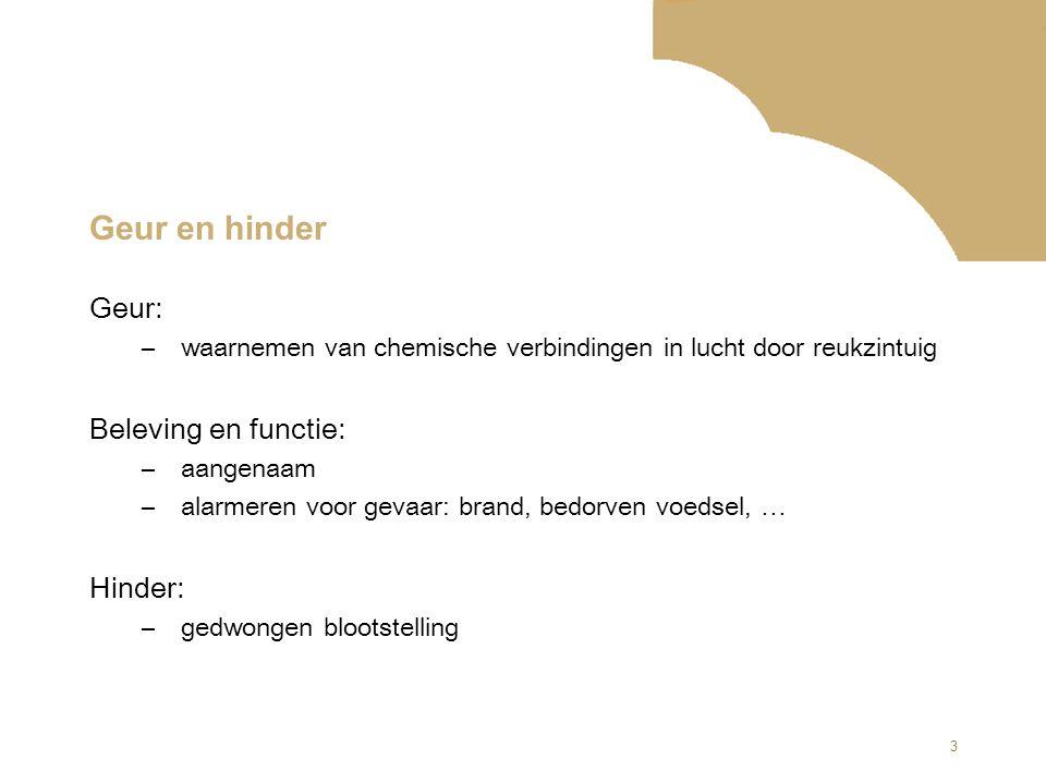 24 Vragen aan de Helpdesk (5) Antwoord: Voor geur zijn geen erkende maatregelen gedefinieerd.